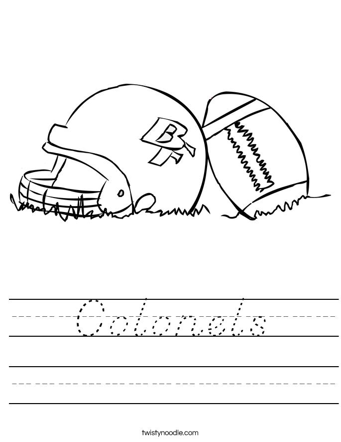 Colonels Worksheet