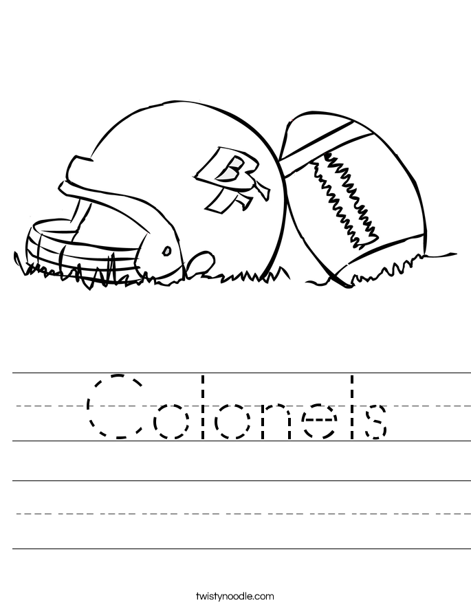 Colonels Worksheet