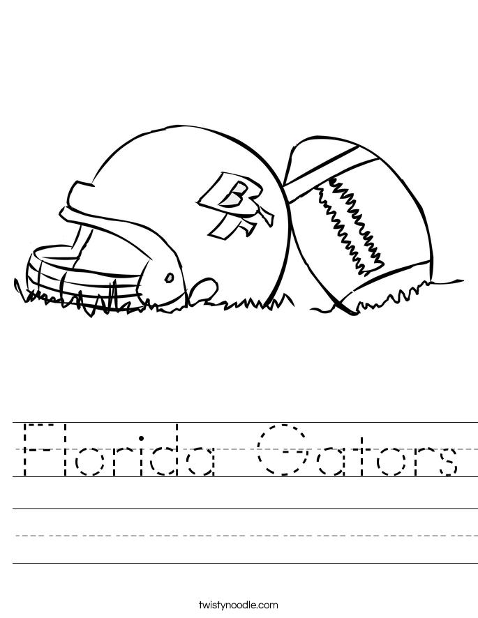florida gators worksheet twisty noodle. Black Bedroom Furniture Sets. Home Design Ideas