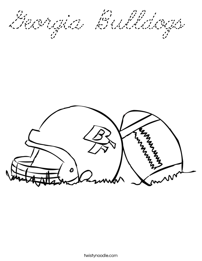 georgia bulldogs coloring pages - photo#23