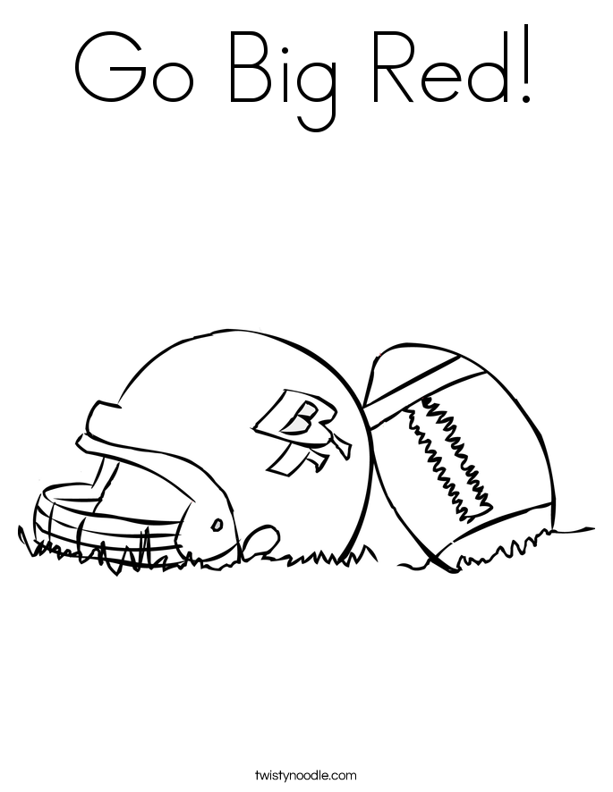 Go Big Red! Coloring Page
