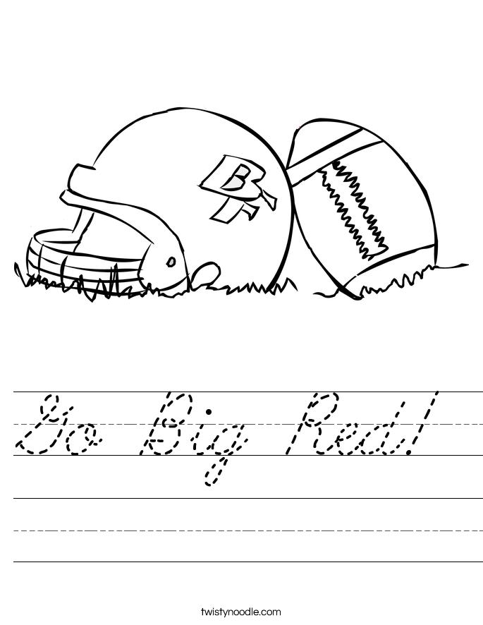 Go Big Red! Worksheet