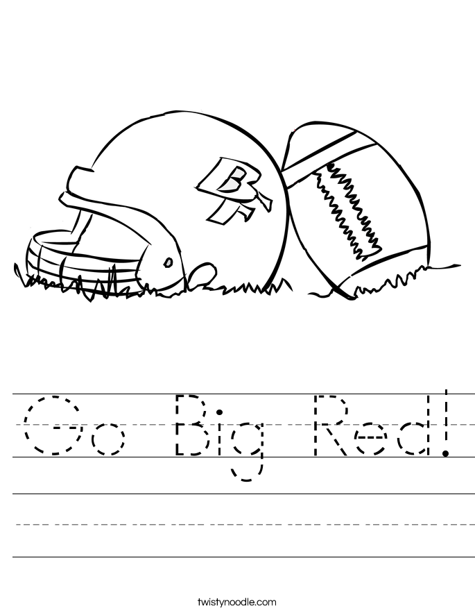 Go Big Red! Worksheet