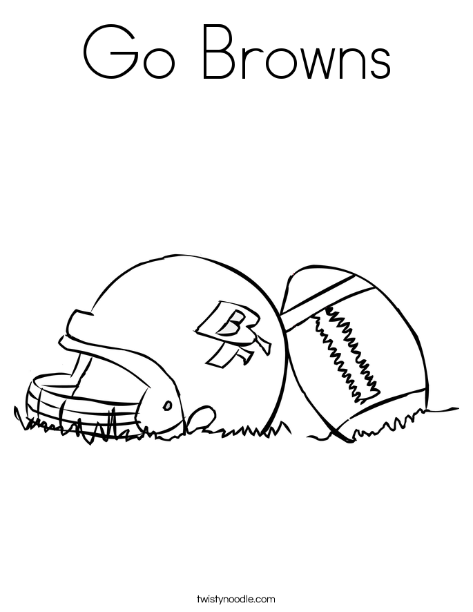 Go Browns Coloring Page