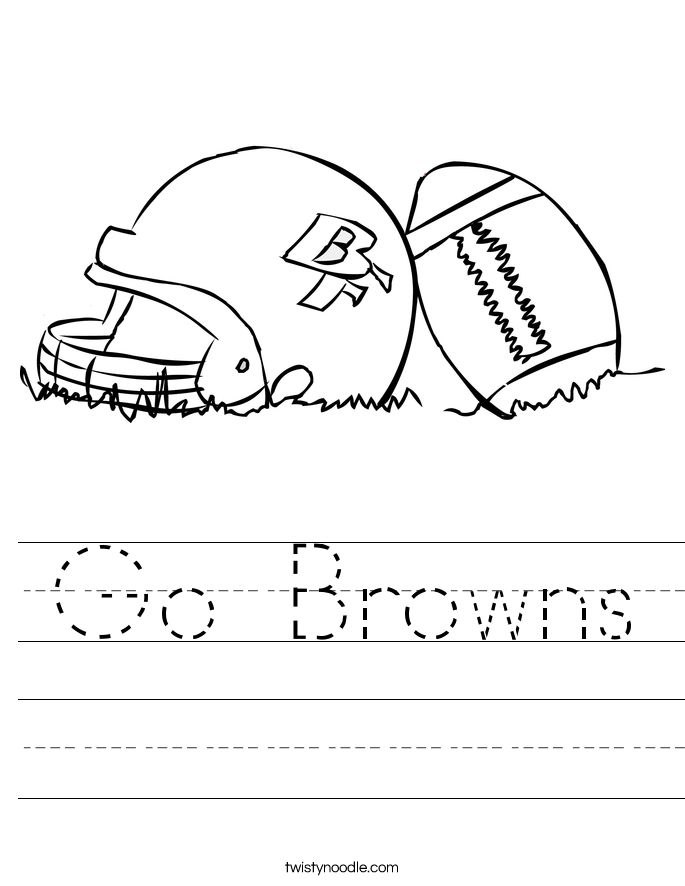 Go Browns Worksheet