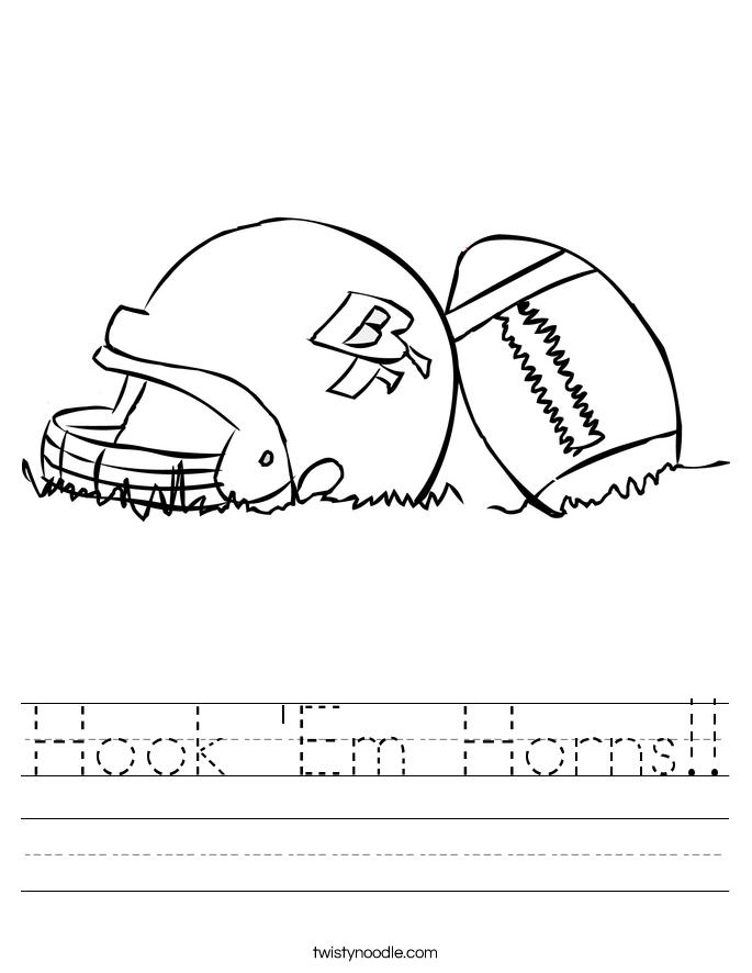 Hook 'Em Horns!! Worksheet