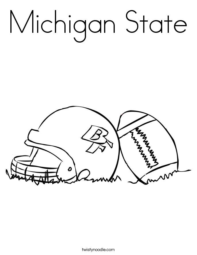 Michigan State Coloring Page