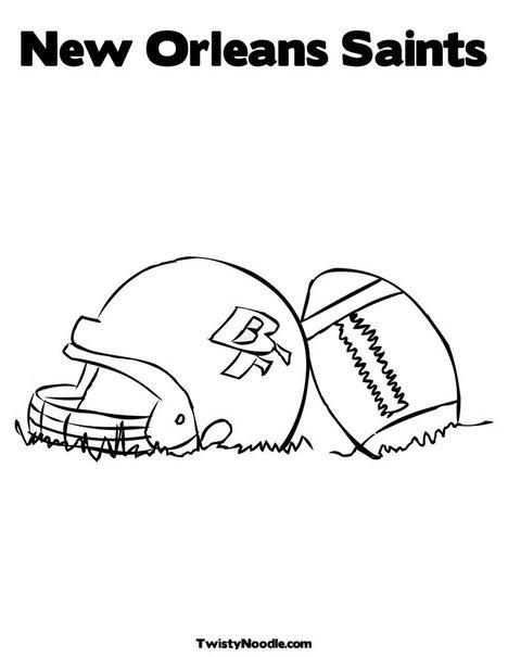 New Orleans Saints Coloring Pages New Orleans Saints Team