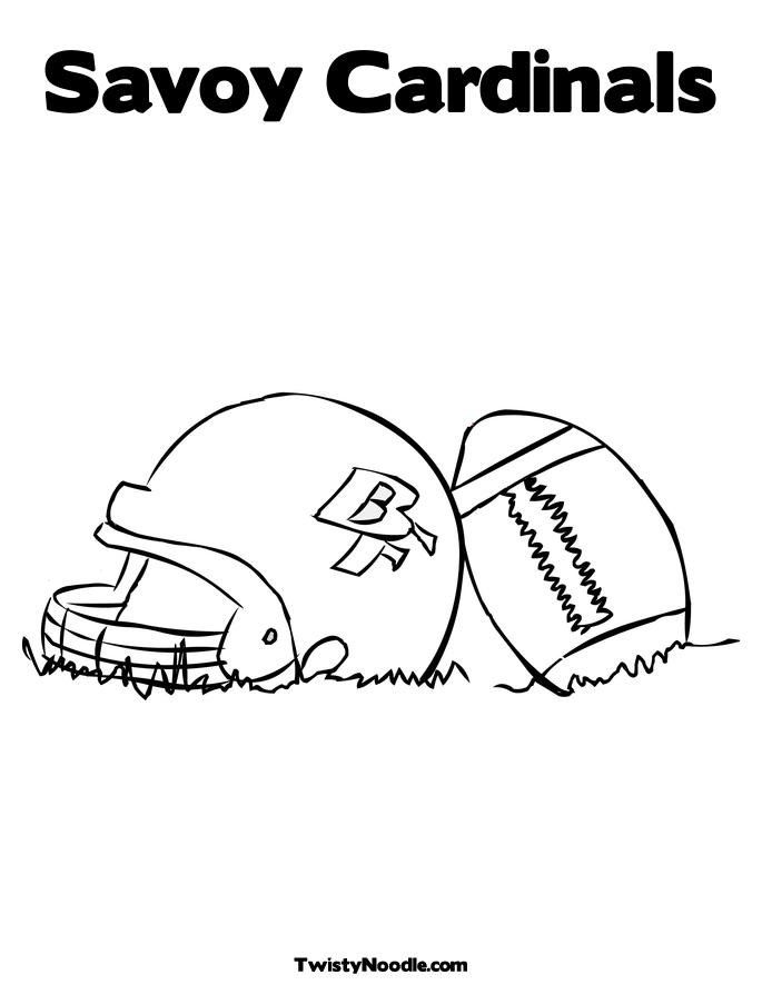 cardinals football coloring pages - photo#15