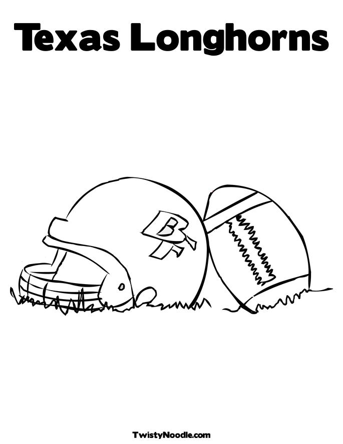 Helmet and Football Coloring Page