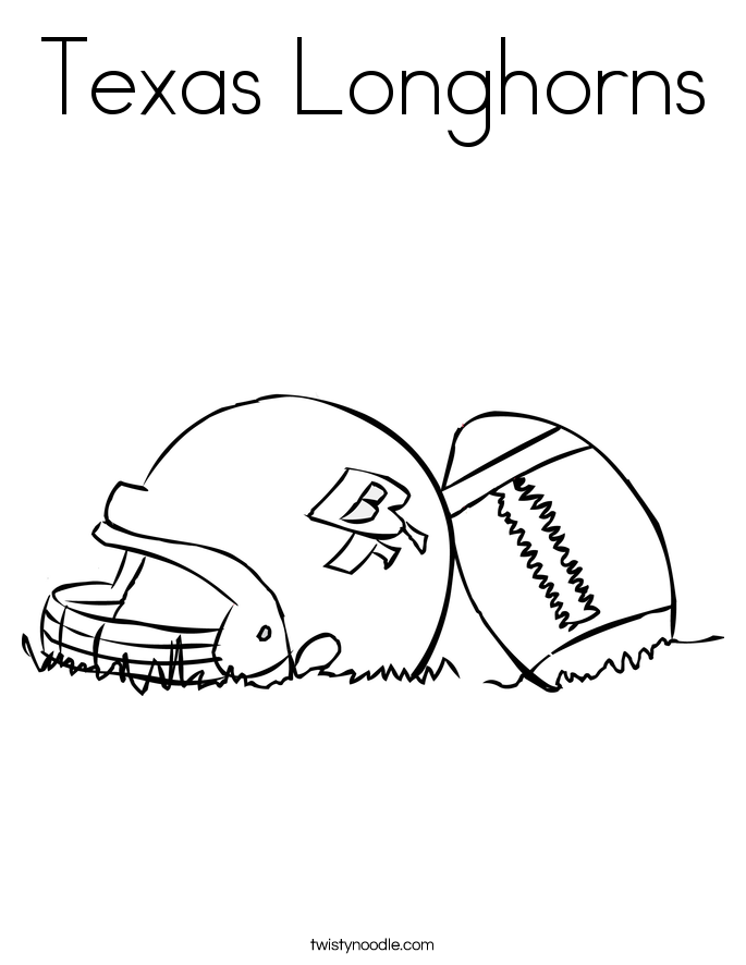 Texas Longhorns Coloring Page