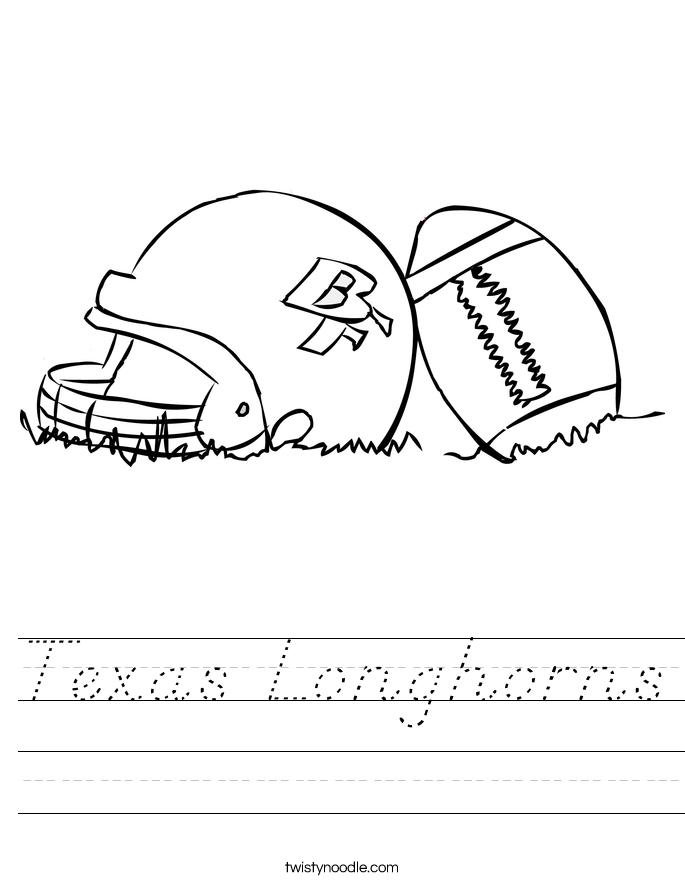 Texas Longhorns Worksheet