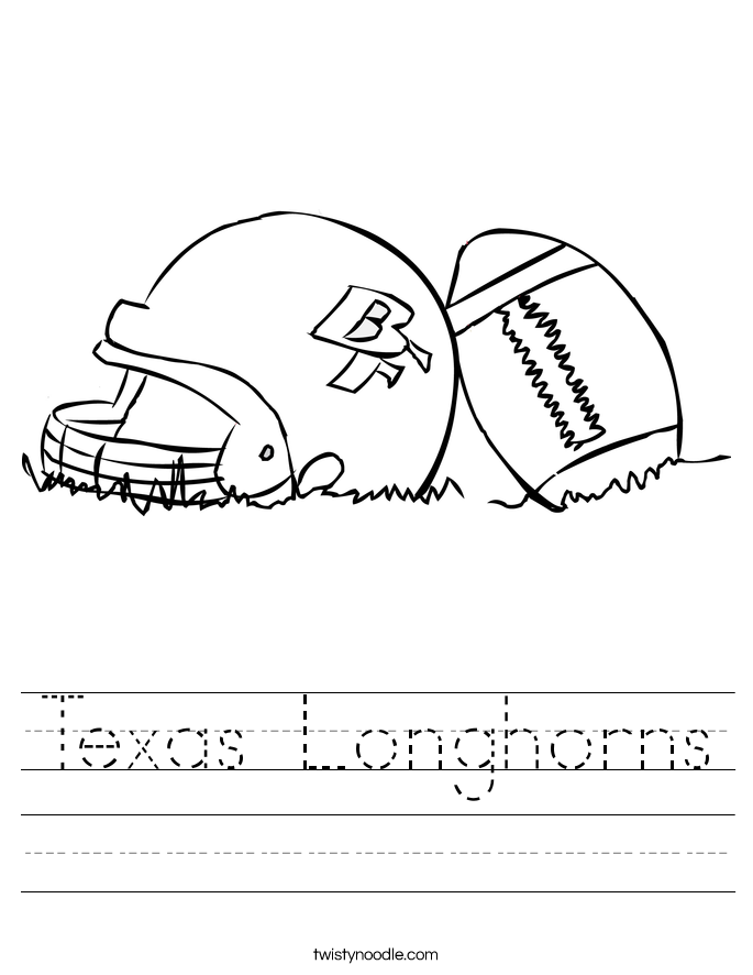 Texas Longhorns Worksheet