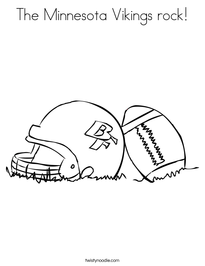 The Minnesota Vikings rock Coloring Page Twisty Noodle
