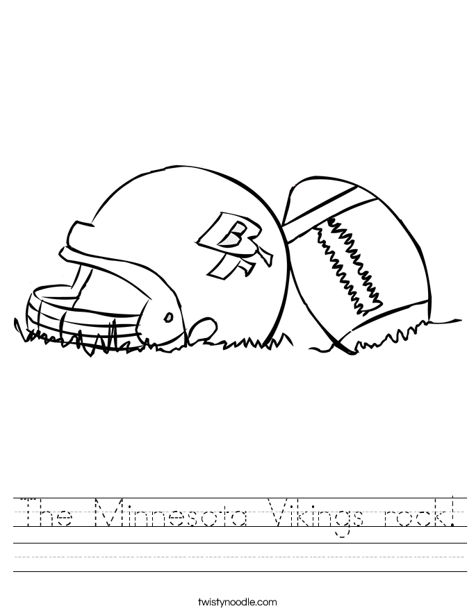 The Minnesota Vikings rock! Worksheet