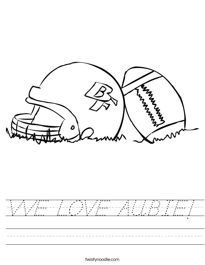 WE LOVE AUBIE! Worksheet