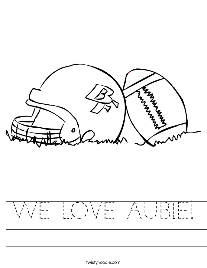 WE LOVE AUBIE! Worksheet