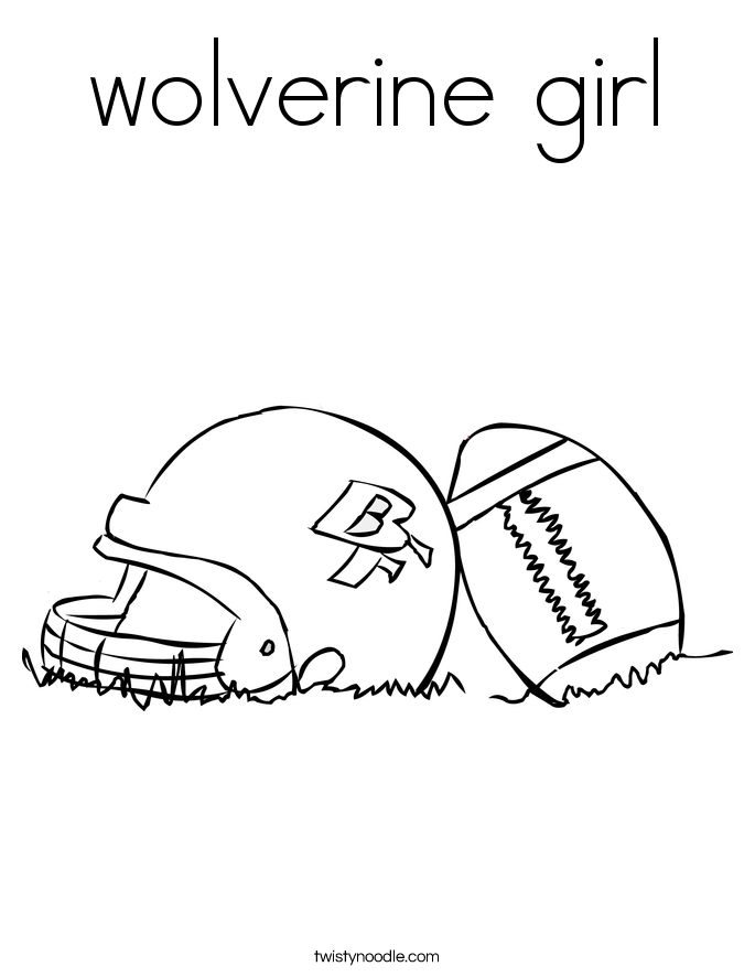 wolverine girl Coloring Page