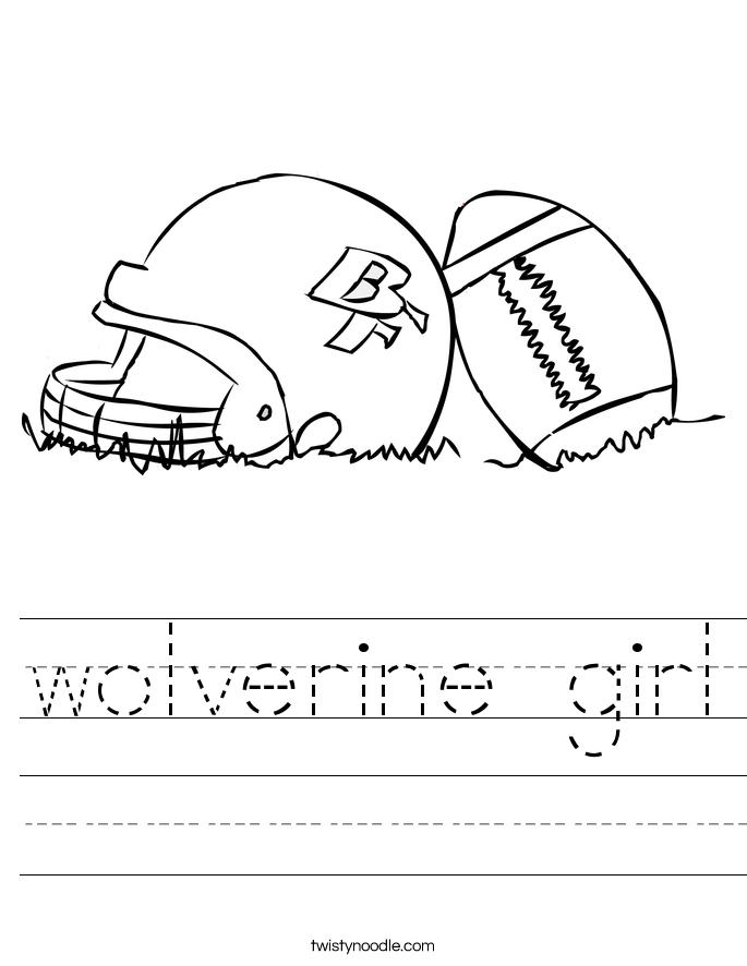 wolverine girl Worksheet