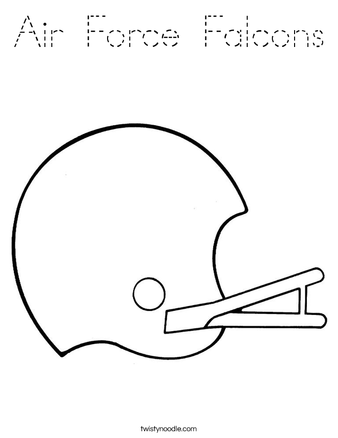 Air Force Falcons Coloring Page