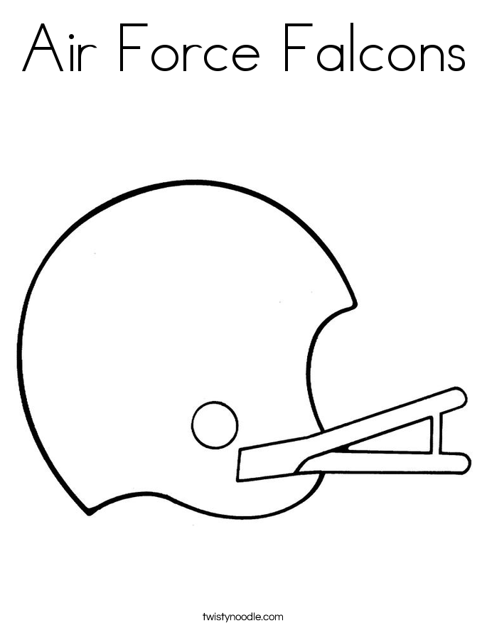air force falcons coloring page - Air Force Coloring Pages Printable