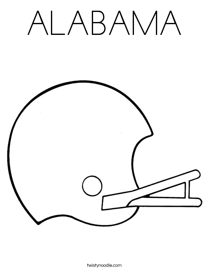 Coloring Pages Football Helmet Alabama Freecoloring4u Com Alabama Football Coloring Pages