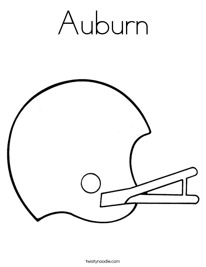 Auburn Tigers Coloring Page Auburn Coloring Pages
