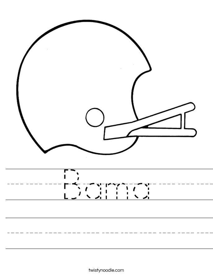 Bama Worksheet
