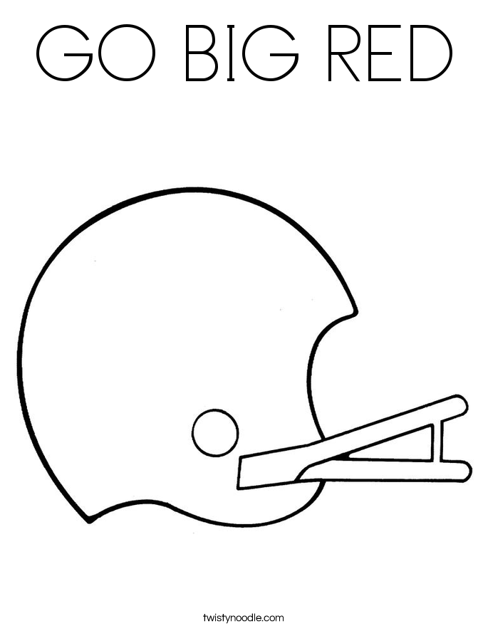 GO BIG RED Coloring Page