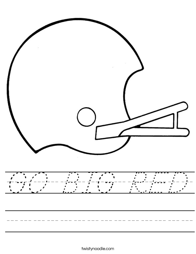 GO BIG RED Worksheet