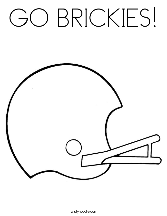 GO BRICKIES! Coloring Page