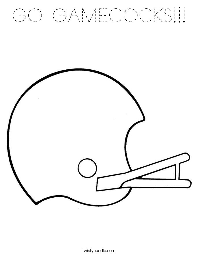 GO GAMECOCKS!!! Coloring Page