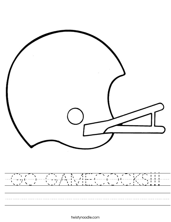 GO GAMECOCKS!!! Worksheet