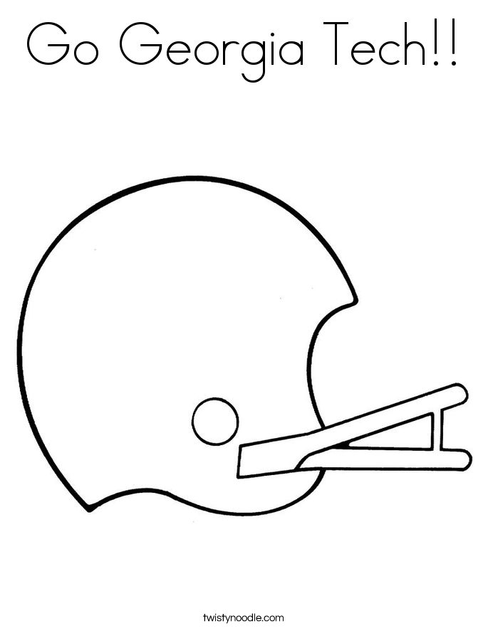Go Georgia Tech!! Coloring Page