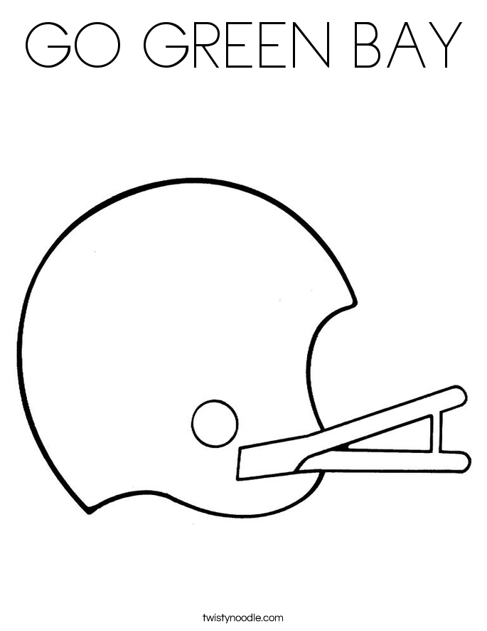 GO GREEN BAY Coloring Page - Twisty Noodle