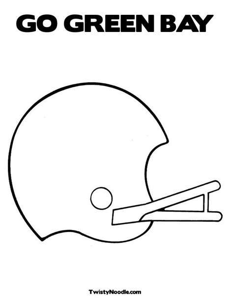 green bay packer coloring pages - photo#15