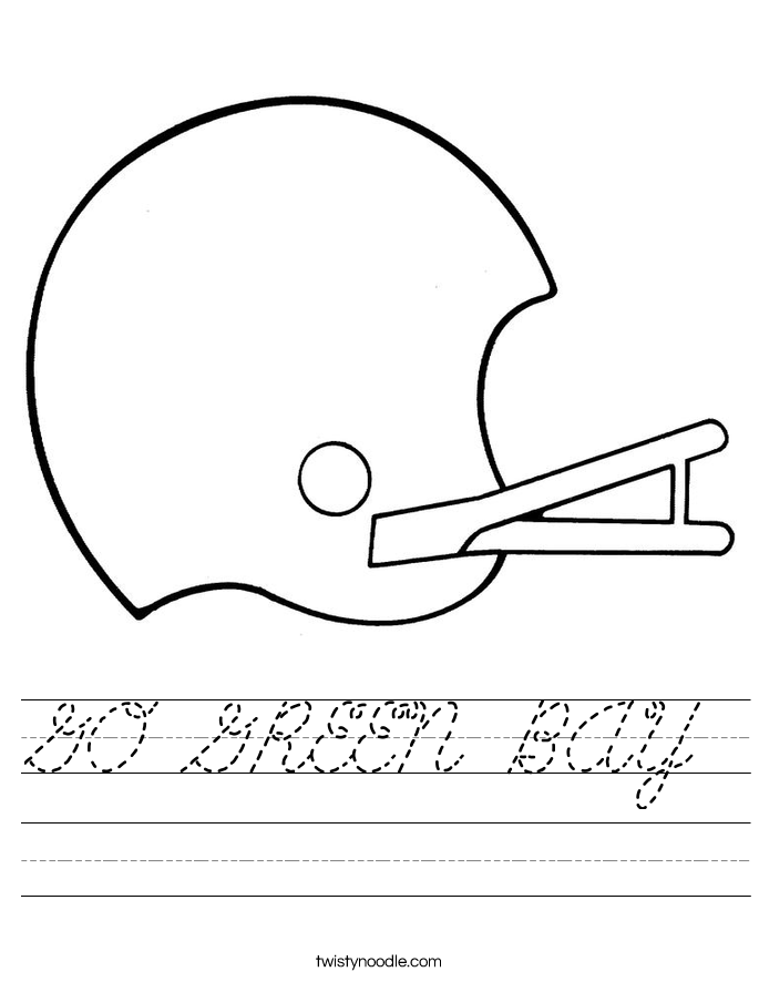 GO GREEN BAY Worksheet
