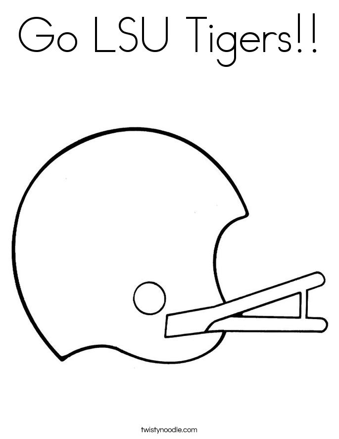 Go LSU Tigers!! Coloring Page
