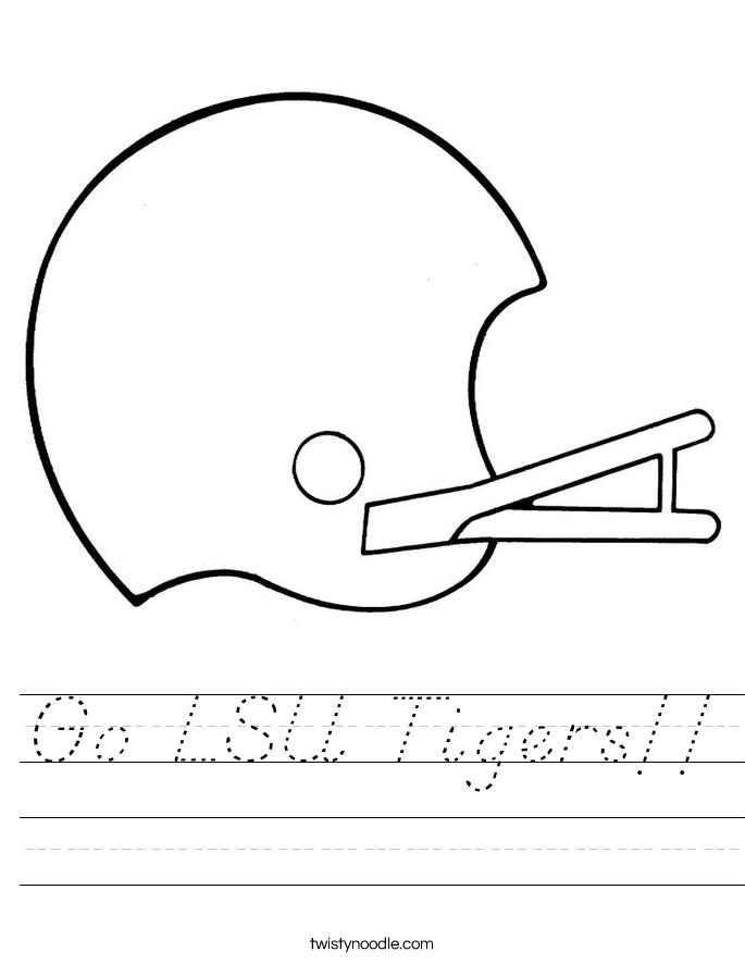 Go LSU Tigers!! Worksheet