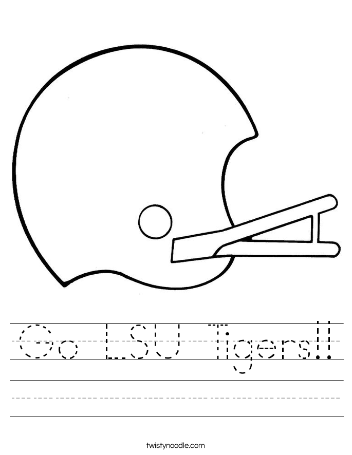 Go LSU Tigers!! Worksheet