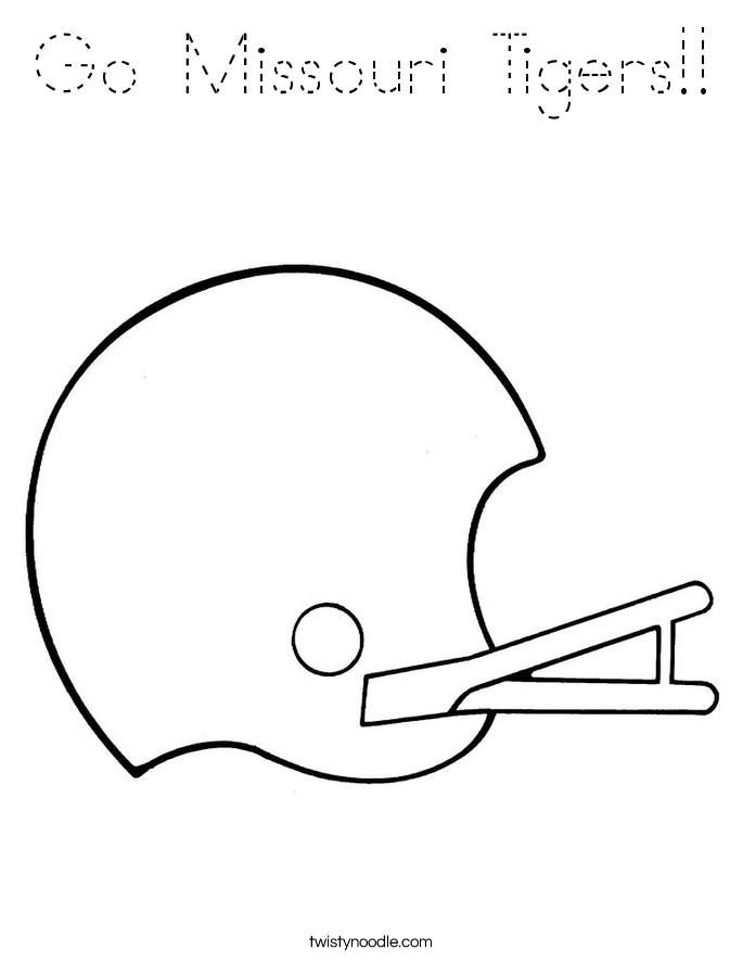 Go Missouri Tigers!! Coloring Page
