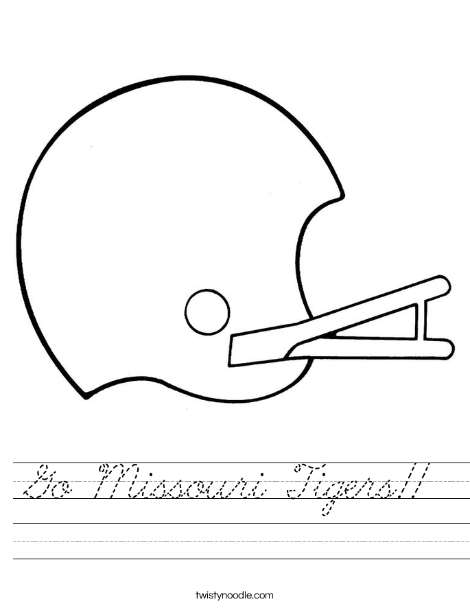Go Missouri Tigers!! Worksheet