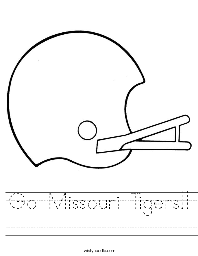 Go Missouri Tigers!! Worksheet