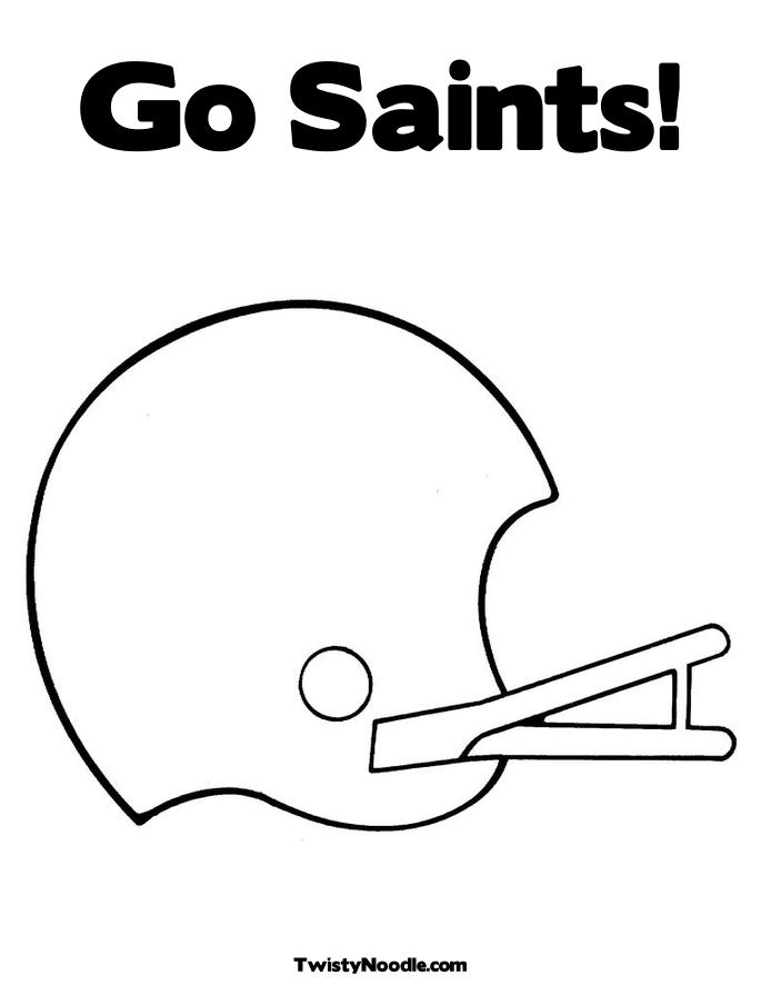 saints football coloring pages - photo#21