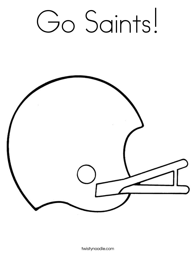 Go Saints! Coloring Page