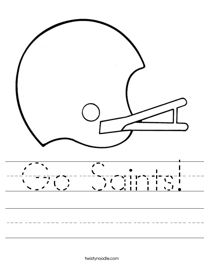 Go Saints! Worksheet
