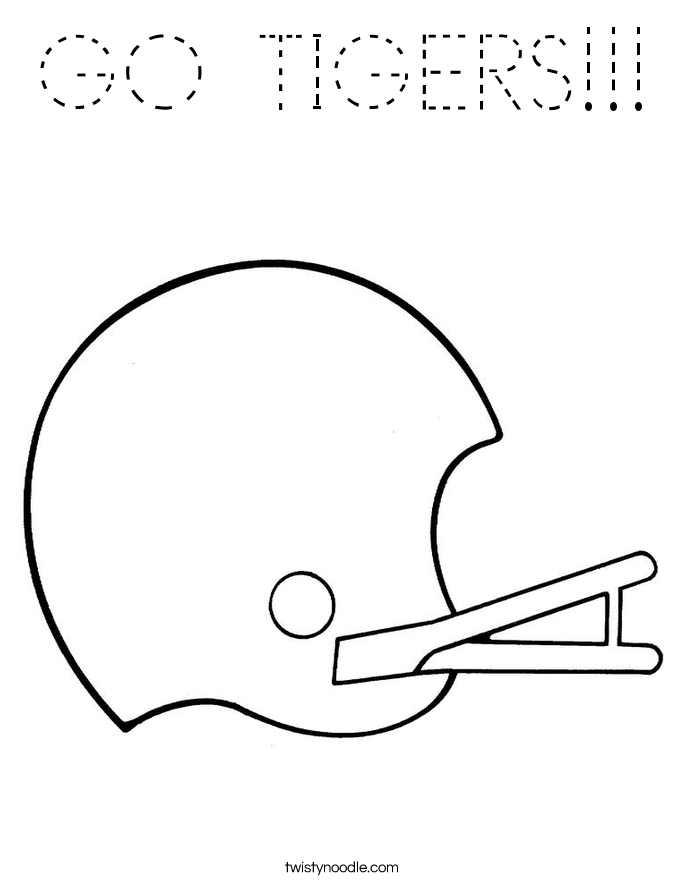 GO TIGERS!!! Coloring Page