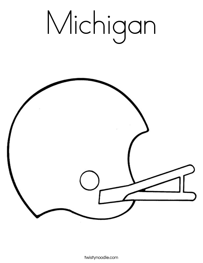Michigan Wolverines Football Coloring Pages Coloring Coloring Pages
