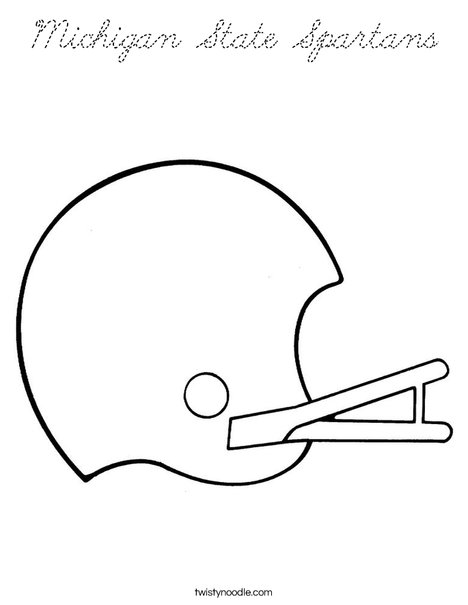 Boise State Helmet Coloring Pages