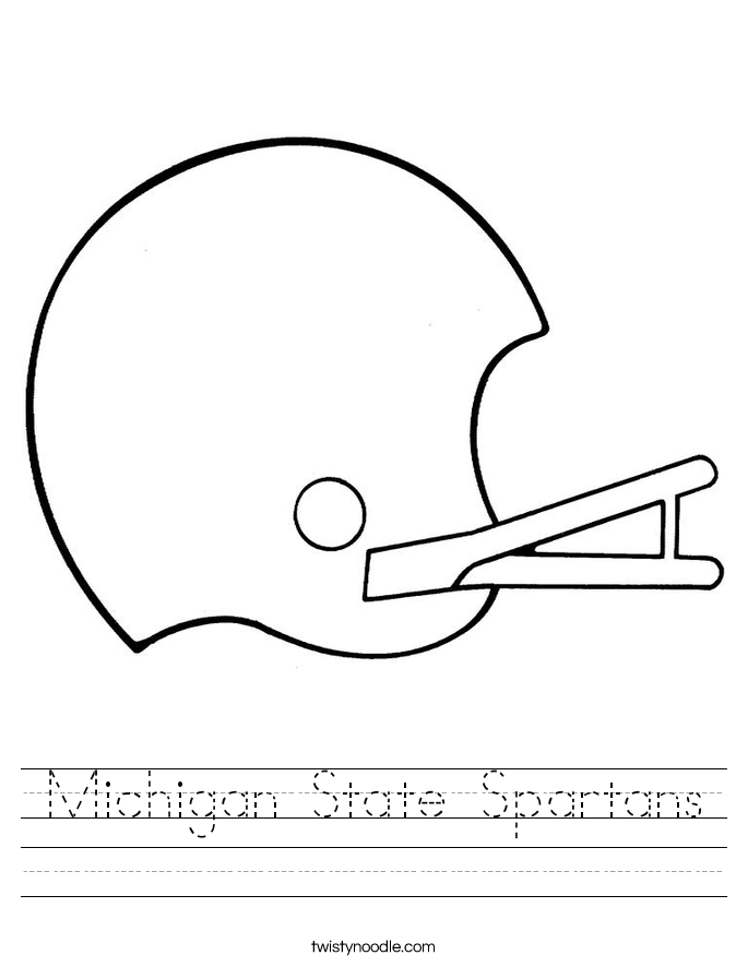Michigan State Spartans Worksheet